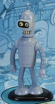 "Futurama -  Die Cast Metal - Grey Bender - 3"" - Heavy New"