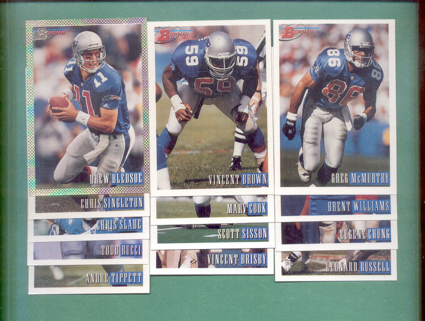 1993 Bowman New England Patriots Football Team Set