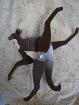 Whirligig, Brown Kangaroo. Handcrafted,handpainted,windmobile,windspinne... - $58.00