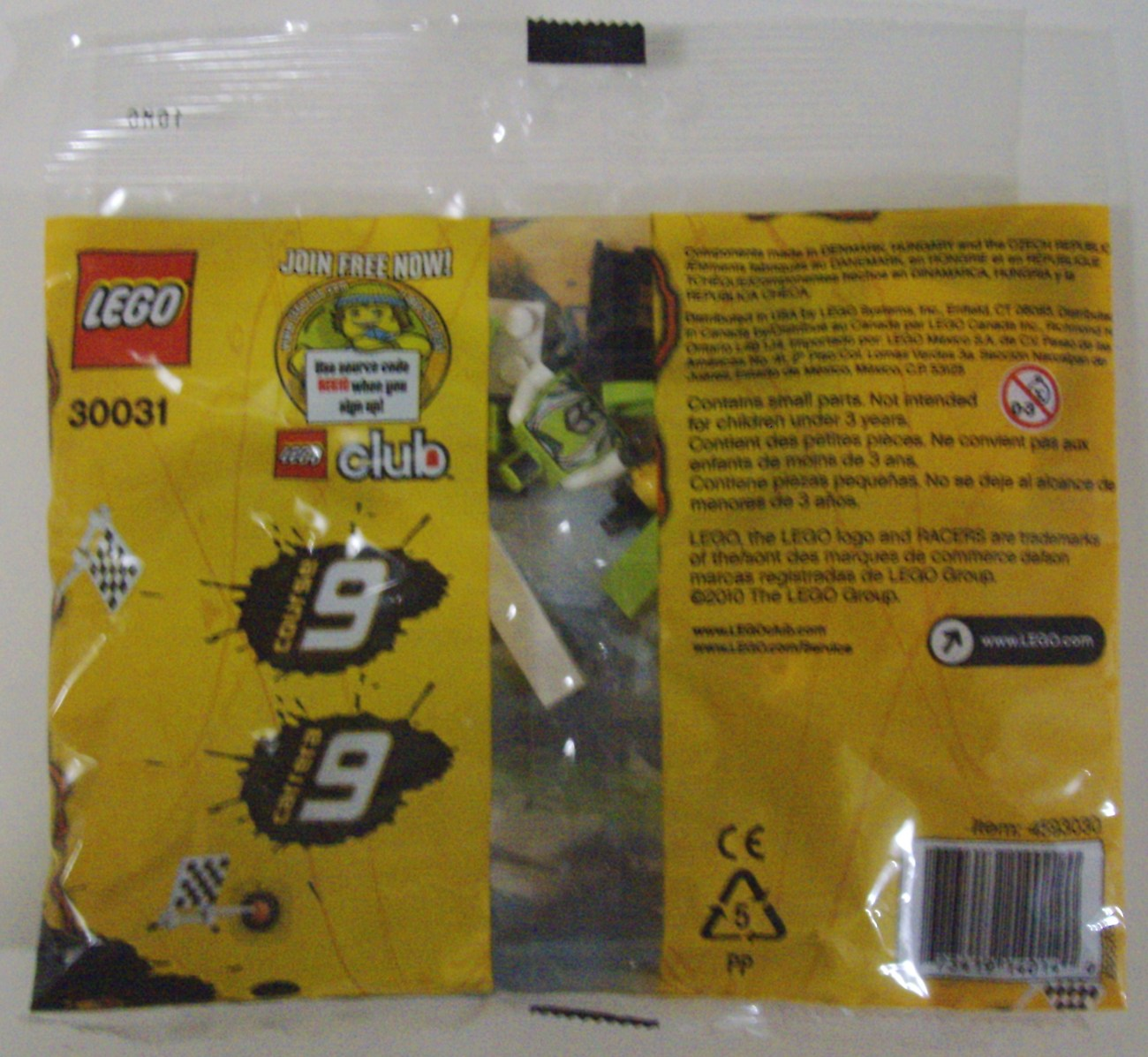 LEGO World Racers Race 9 set # 30031 w/ 27 pieces and 1 minifigure - New
