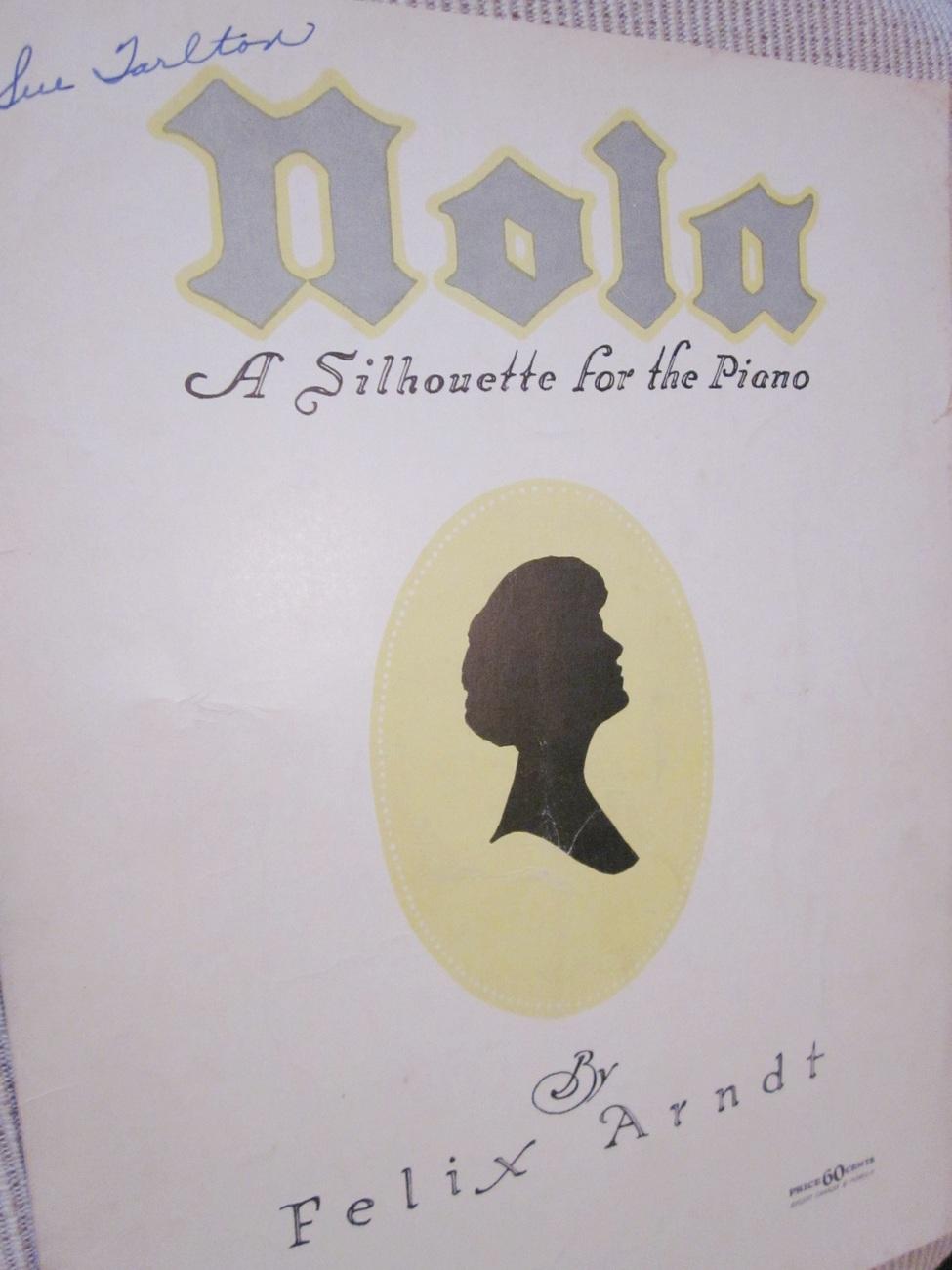Vintage Sheet Music Nola 1942 by Felix Arndt - Piano Music