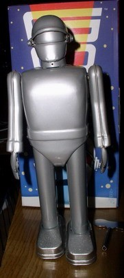 Gort  -  galactic - Policeman - Tin Wind Up -  Robot  -  Space - Toy- Rare - MIB