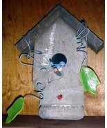 Decorative Birdhouse plaque  old porch post   - $12.50
