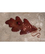 Handcrafted    Oak Leaf  Pendant with Ladybug - $9.95