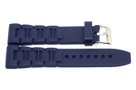 BLUE 26MM RUBBER COMPOSITE HIGH QUALITY SPORT LINK WATCH BAND STRAP - $12.38
