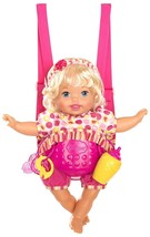 Little Mommy Laugh & Love Baby Realistic Sounds and Movements Baby Carri... - $41.99