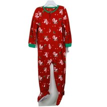 Carter's Girls Footed Pajama Sz 4 Toddler Red Unicorn Fleece Pj's New - $13.51