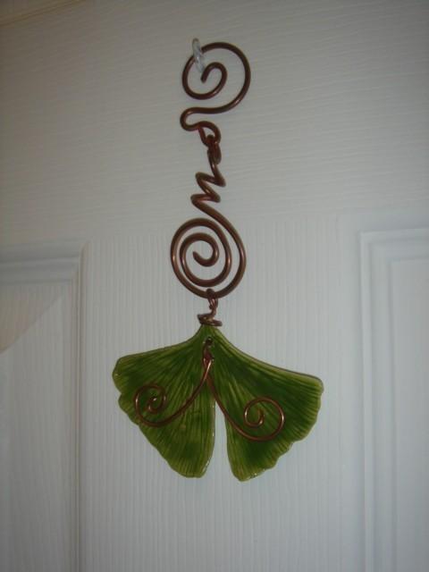 Ginkgo leaf window charm  1