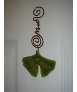 Window Charm     Ceramic Ginkgo Leaf - $8.95
