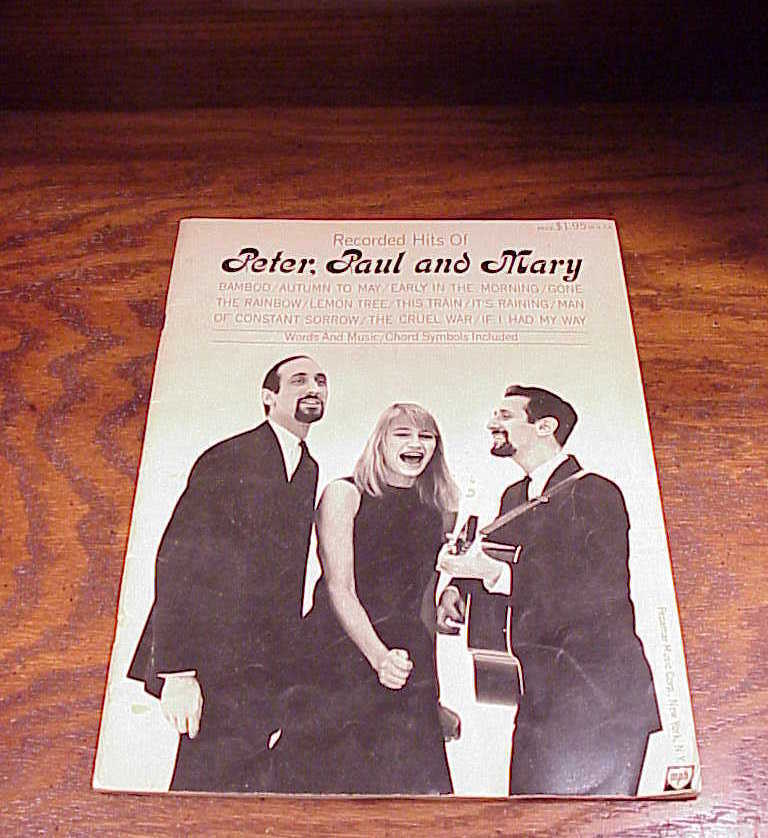 1962 Recorded Hits of Peter, Paul and Mary Song Book