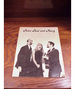 1962 Recorded Hits of Peter, Paul and Mary Song Book - $9.95