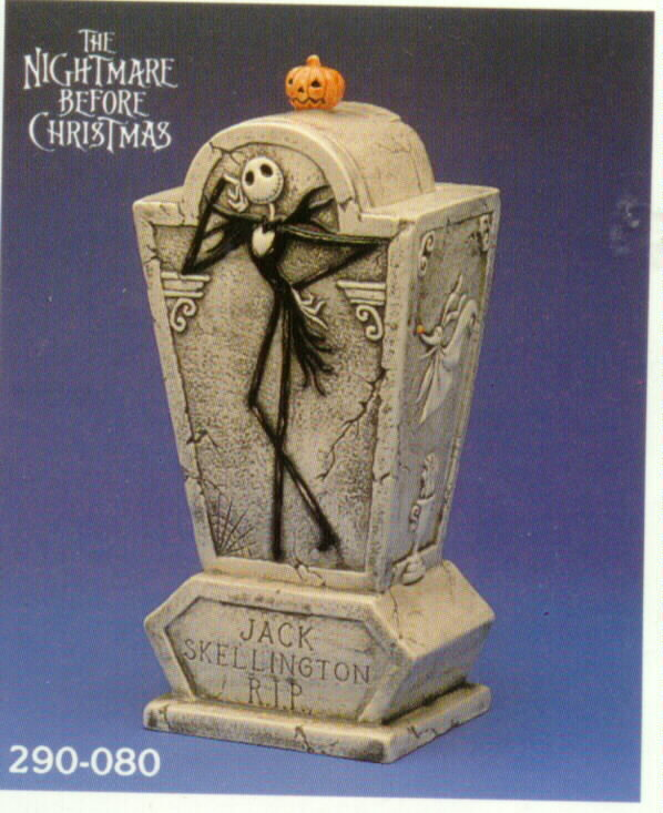 Nightmare Before Christmas - Jack Skellington - cookie Jar - NMBC - RIP-Disney