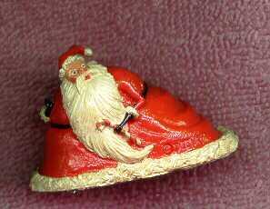 Nightmare Before Christmas Santa Claws Miniature Figure