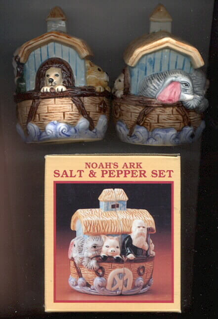 Noah's Ark porcelain  Salt & Pepper cute a must have