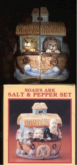 Noah's Ark porcelain  Salt & Pepper cute a must have
