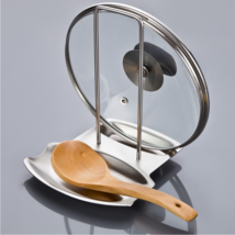 Stainless Steel Oven Top Pan Lid & Spoon Rest