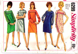 1965 DRESS Pattern 6299-s Teen Size 12 - Complete - $7.99