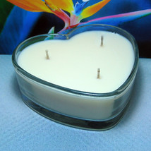 Bird of Paradise PURE SOY Heart Container Candle - $12.50