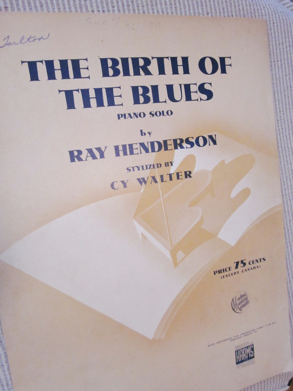 Vintage Sheet Music The Birth Of The Blues 1941 Piano Solo - Henderson & Walter