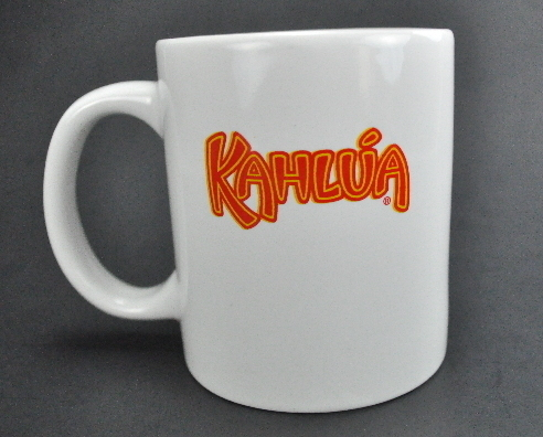Kahlua White Pair Coffee Mug Cups Orange Yellow Logo