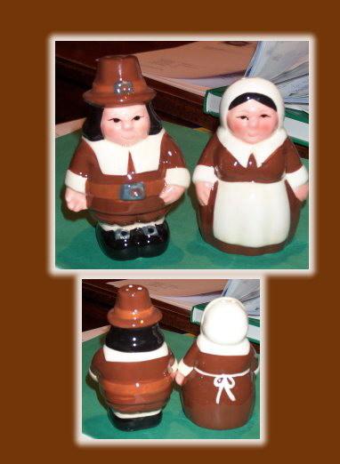 Thanksgiving Salt & Pepper Pilgrim RARE