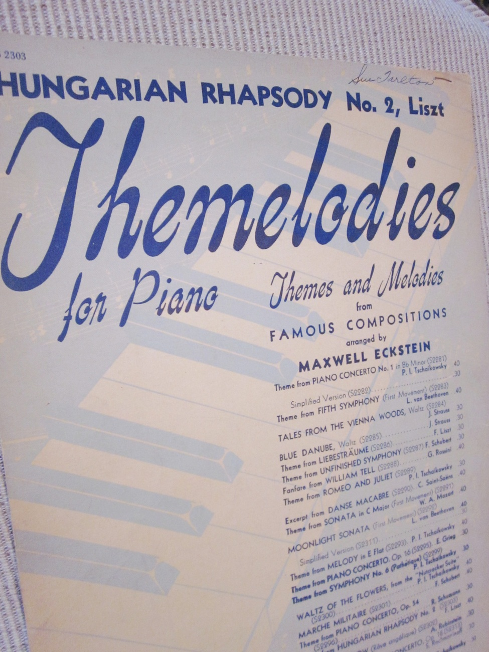 Vintage Sheet Music Hungarian Rhapsody No. 2 - Liszt 1942 - Piano