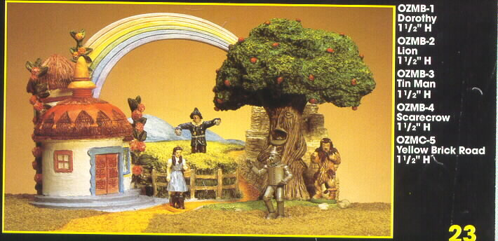 Wizard of Oz Miniature set of 4 and Display