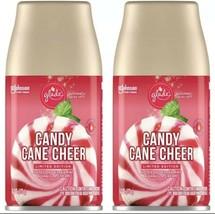 2 Glade Candy Cane Cheer Automatic Spray Refills, 6.2oz x2 - $19.79