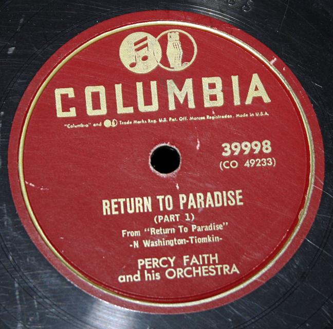 "Percy Faith ""Return to Paradise part 1&2""   78"