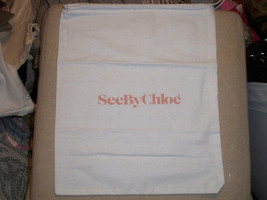 See by Chloe' Storage Pouch, Dust Bag, Purse Holder, Drawstring, White 1... - $6.92