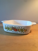 Vintage 70s Corningware 1qt casserole - Spice of Life pattern (A-1-B)