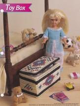 Toy Box, Annie's Attic Fashion Doll Plastic Canvas Pattern Leaflet FP22-04 - $1.95