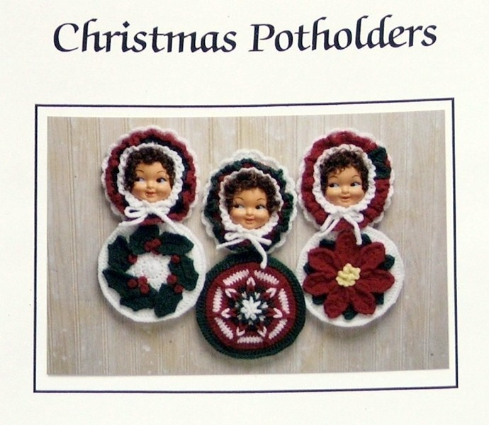 JAO Crochet Pattern CHRISTMAS POTHOLDERS 3 Fun Patterns!