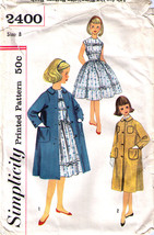 1960's Dress & Coat Pattern 2400-s Girl Size 8 - Complete - $9.99