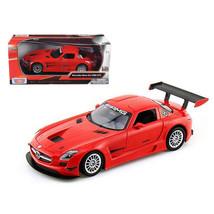 Mercedes SLS AMG GT3 Red 1/24 Diecast Car Model by Motormax 73356r - $28.65