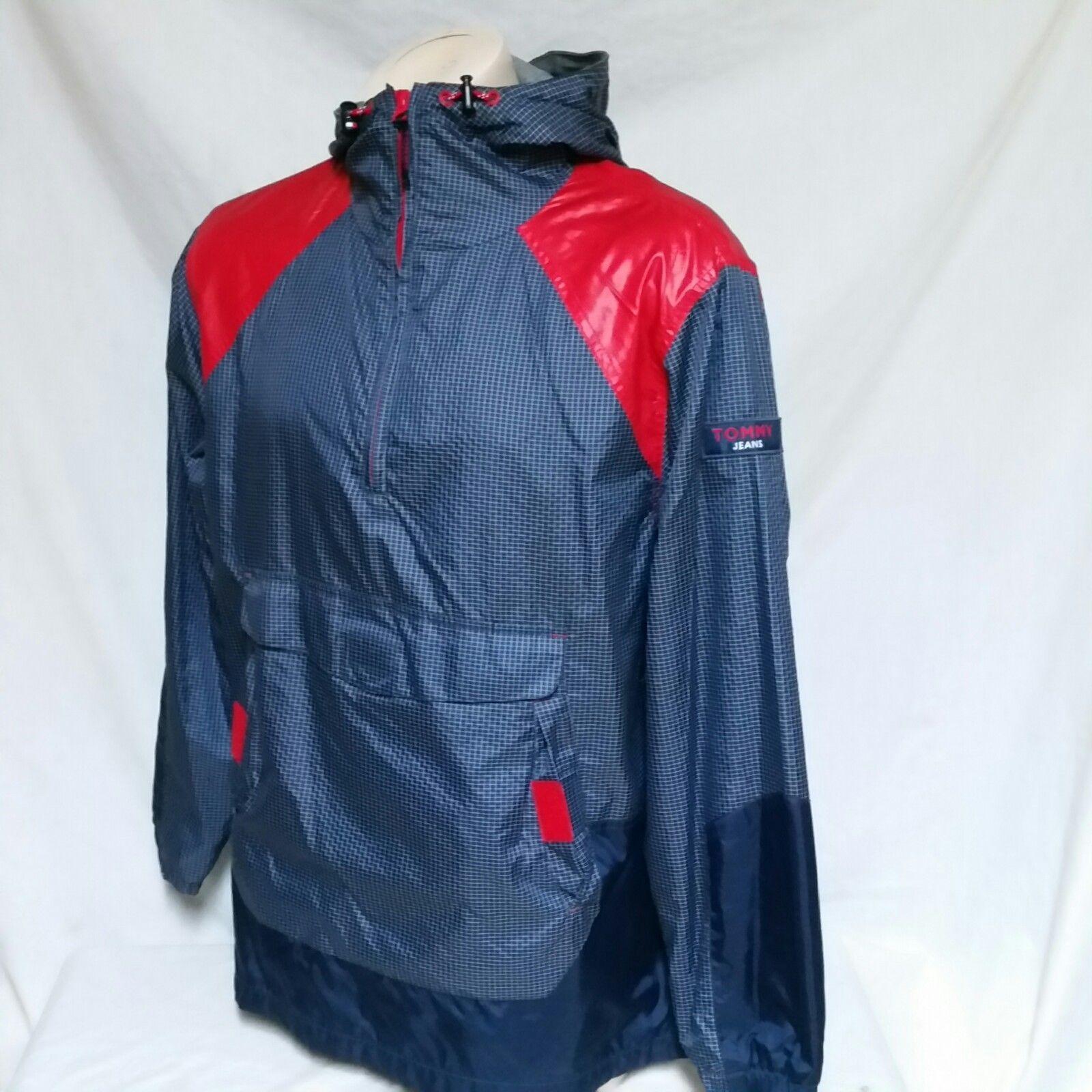 VTG 90s Tommy Hilfiger Jeans Windbreaker Jacket Colorblock Sailing Coat Medium