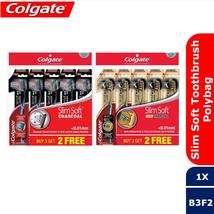 5x Colgate Toothbrush - Slim Soft Charcoal / Slim Soft Gold Charcoal EXPRESS DHL - $20.90