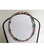 Copper and Stone Bead Secret Message Bracelet R... - $15.00
