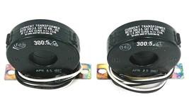 LOT OF 2 NEW FLEX-CORE 58 RBL-301 CURRENT TRANSFORMERS 300:5AMP, 600V, 50-400HZ