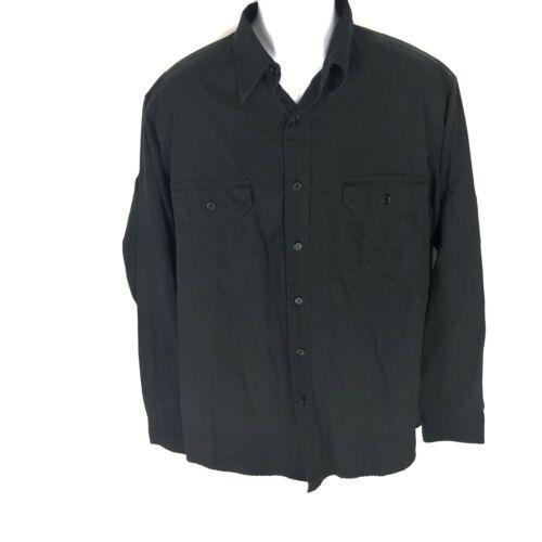 Polo Ralph Lauren Men's Black Button Front Shirt L