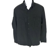 Polo Ralph Lauren Men's Black Button Front Shirt L - $19.79