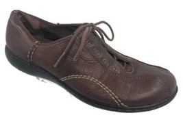 Clarks Women's Leather Shoes Sneakers Lace Ups Brown Size 7.5 - $18.69