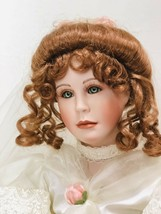 Gwen McNeill Porcelain Bride Doll LE 37 of 5000 Seymour Mann 25in 1996 Roses - $66.78