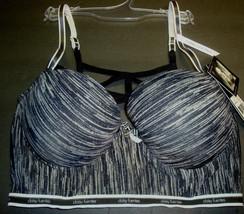 New $30 Daisy Fuentes Women's Sporty Long Line Bra Strappy Back Space Dye 36C image 1