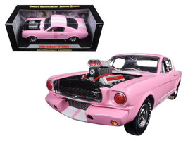 Shelby Collectibles 1965 Ford Shelby Mustang GT 350R Pink White Stripe - $89.09