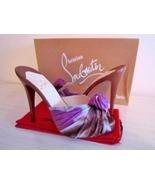 NEW $765 Christian Louboutin Madeleine Purple/B... - $599.99