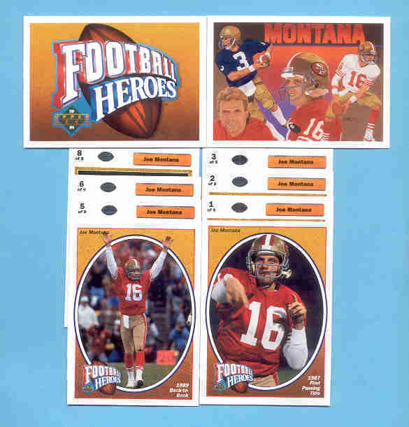 1991 Upper Deck Joe Montana Football Heroes Set