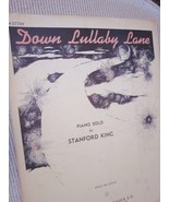 Vintage Sheet Music Down Lullaby Lane Piano Solo by Stanford King 1946 - $7.99