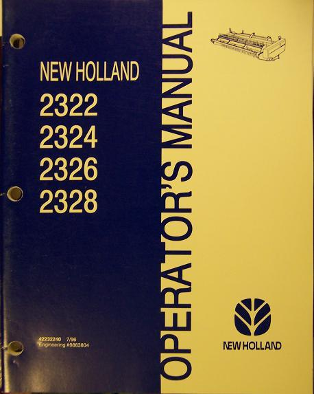 New Holland 2322, 2324, 2326, 2328 Heads Operator's Manual