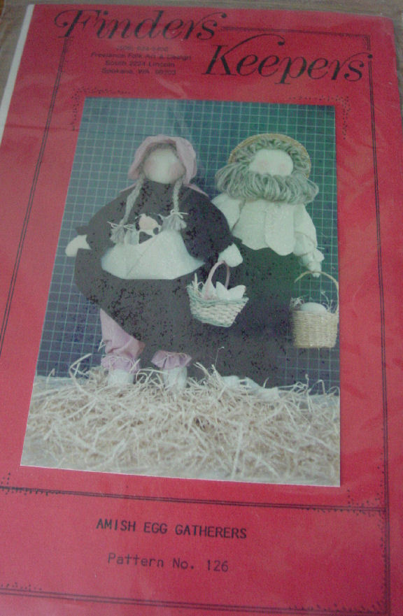 Doll Pattern: Amish Egg Gatherers Rag Dolls